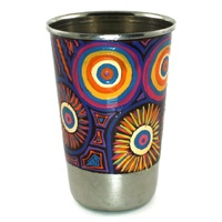 Better World Aboriginal Art Stainless Steel Tumbler - Water Dreaming
