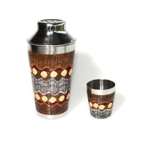 Stainless Steel Aboriginal Art Cocktail Shaker - Sandhills