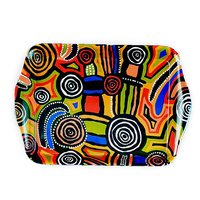 Jijaka Aboriginal Art Melamine Small Tray - Billabong Camp