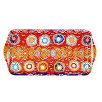Jijaka Aboriginal Art Long Melamine Scatter Tray - Desert Sun
