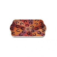 Yijan Aboriginal Art Melamine Scatter Tray - Crow Women Dreaming