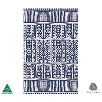 Woollen Throw - Yuendamu Doors (Blue)