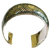 Iwantja Aboriginal Adjustable Metal Bangle - Tjukula