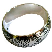 Iwantja Aboriginal Art Metal Bangle - Tjukula