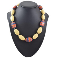 Jijaka Aboriginal Art Beaded Necklace - Rockface
