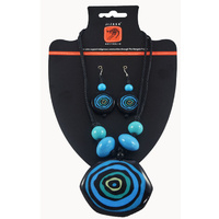 Jijaka Beaded Necklace/Earrings Set - Billabong