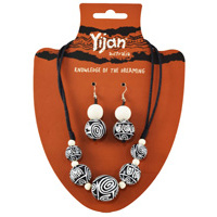 Yijan Beaded Necklace/Earrings Set - Women's Ceremonial Place