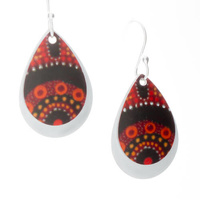 Handmade 2pce Aluminium Earrings - Gathering Bushfood