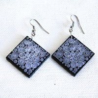 Handmade Ceramic Earrings - Seven Sisters Dreaming