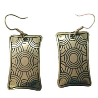 Iwantja Art Metal Earring - Tjukula