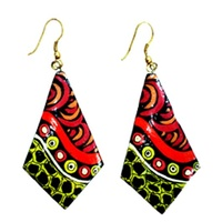 Iwantja Arts Lacquered Earrings - Iwantja Arts03