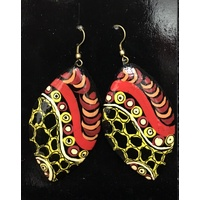 Iwantja Arts Lacquered Earrings - Iwantja Arts05