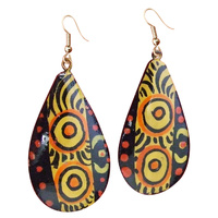 Iwantja Arts Lacquered Earrings - Rene Sundown