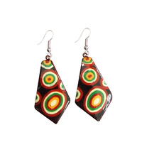 Iwantja Aboriginal Arts Lacquered Earrings - Suzie Prince