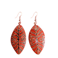 Iwantja Arts Lacquered Earrings -Tiger Yaltkangki