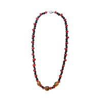 Native Rainforest Seed Necklace - 3 Brown/Red Bean