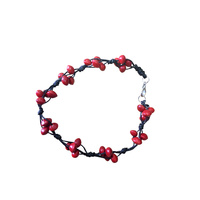 Native Seed Bracelet - Red Bean