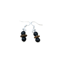 Native Seed Earrings - Black Bean