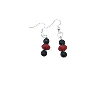 Native Seed Earrings - Red/Black Bean