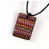 Handmade Aboriginal Art Ceramic Pendant - Walka