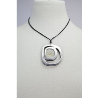 Sabelle Pendant - Riverstone Rings Grey