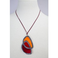 Sabelle Pendant - Riverstones Red/Orange