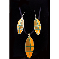 Jijaka Jewellery Set - Shield (Orange)