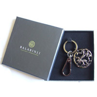 Balarinji Aboriginal design Boxed Keychain - Bush Flower