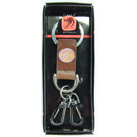 Jijaka Aboriginal Art Vintage Boxed Keyring - Firestones (2 clip Leather)