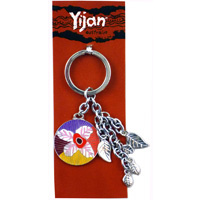 Yijan Boxed metal Keyring - Waterlillies (Charms)