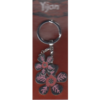 Yijan Aboriginal Art Boxed Keyring - Water Lillies & Charm