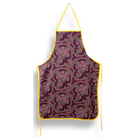 Bulurru Aboriginal Art Cotton Apron - On Walkabout [Wine]