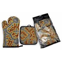 Bunabiri Dreaming Collection Mit/Pot Holder Set - Brush-tailed Possum Dreaming