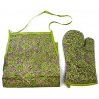 Yijan Apron and Oven Mit Set - Women Travel Dreaming