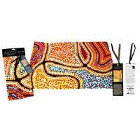 Dreaming Collection Aboriginal Art Cotton Teatowel - Snake Dreaming