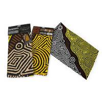 Dreaming Collection Aboriginal Art Cotton Teatowel - Fire Country Dreaming