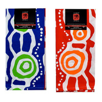 Jijaka Aboriginal Art 2pce Cotton TeaTowel Set - Ocean Camp