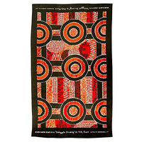 Kamilaroi Teatowel - Galinggalin Dreaming (Orange)
