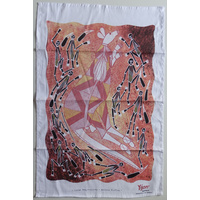 Yijan Aboriginal Art Cotton Teatowel - Wallaroo Hunting
