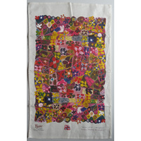 Yijan Aboriginal Art Cotton Teatowel - Waterlillies
