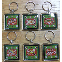 Australiana Acrylic Souvenir Dot Animal Keyring Set (6)