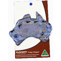 Bunabiri Fridge Australia Map Magnet - Barramundi Dreaming