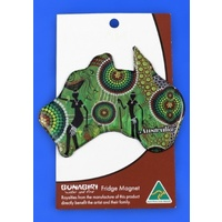 Bunabiri Fridge Australia Map Magnet - Hunters & Gatherers Rainforest