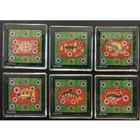 Aboriginal Animals Magnet Set (6) - Green