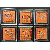 Aboriginal Animals Magnet Set (6) - Orange