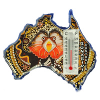 Bunabiri Thermometer Australia Magnet - Frilly Neck Lizard