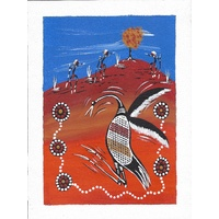 A5 Canvas - Dancing Brolga