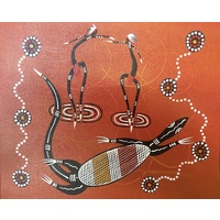 Canvas Board (10x12) - Goanna Dancers (2)
