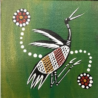 Canvas Board (4 x 4) - Purraka (Brolga)