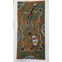 Kangaroo Dance (21cm x 38cm) Unstretched Canvas